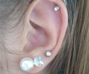 ear, pearl, and Piercings image