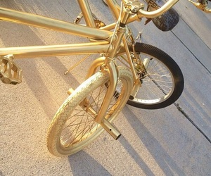 gold, bike, and tumblr image