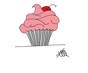 cupcakes, drawings, and food image