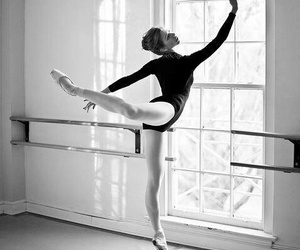 ballet and black and white image