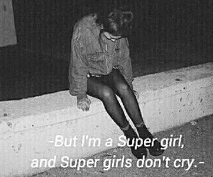 black and white, girl, and super girl image