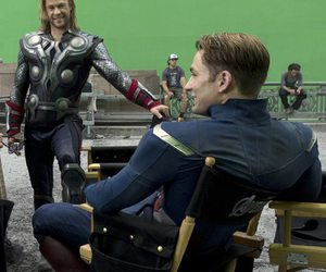 chris evans, the avengers, and chris hemsworth image