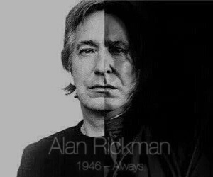 alan rickman, harry potter, and rip image