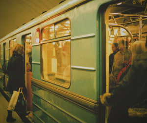 train, girl, and metrostation image