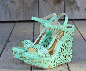 mint green and wedges image