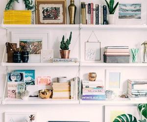 room, books, and shelf image