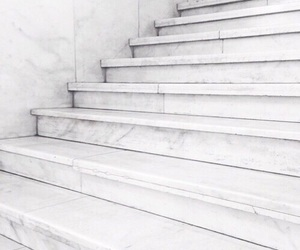 white and stairs image