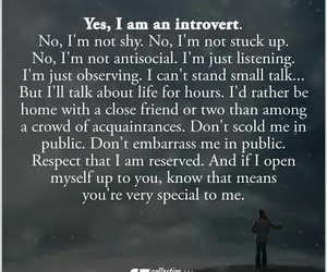 antisocial, introvert, and myself image