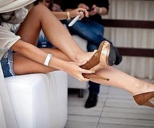 beautiful, high heels, and legs image