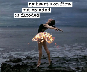 drowning, flooded, and heart's on fire image