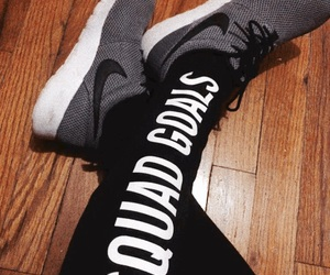 fitness, goals, and shoes image