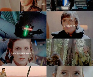 force, star wars, and rey image