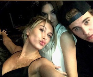 justin bieber, kendall jenner, and hailey baldwin image
