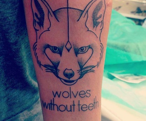 fox, ink, and tattoo image