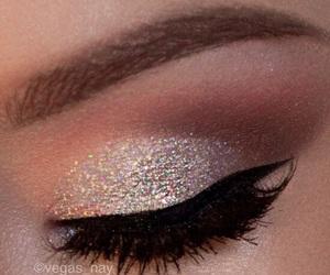 makeup, make up, and glitter image