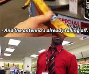 funny, apple, and banana image