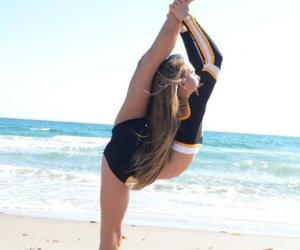 beach, cheer, and cheerleading image