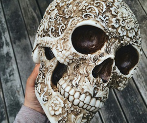 skull, art, and grunge image