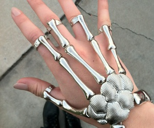 cool, hand, and skeleton image