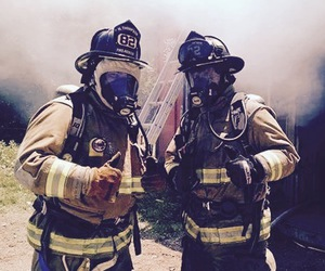 brave, fire, and firefighters image