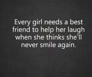 girl, smile, and best friends image