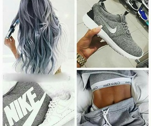 nike, hair, and grey image