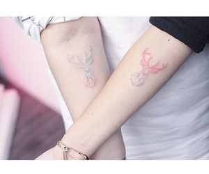 tattoo, couple, and white image