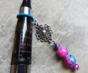 charm, flower, and pink and blue image