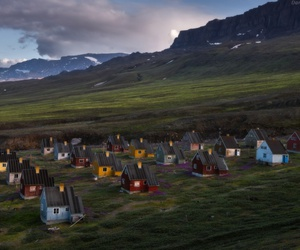 dusk, greenland, and Houses image