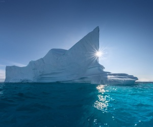 boat, greenland, and water image