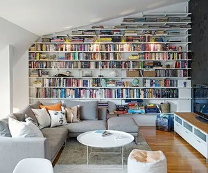 books, room, and house image