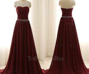 wine red, dresses for prom, and long prom dresses image