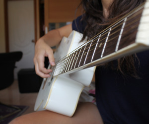 guitar and white image
