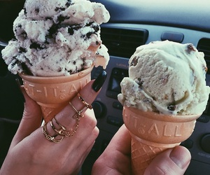 ice cream, food, and summer image