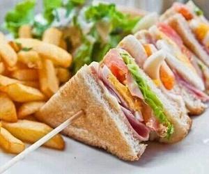 sandwich, food, and salad image