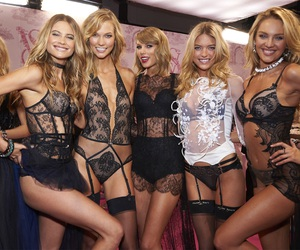 Taylor Swift, candice swanepoel, and Karlie Kloss image