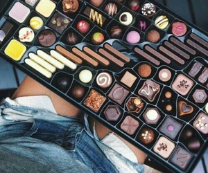chocolate, candy, and food image