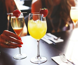 drink, luxury, and strawberry image