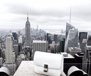 city, white, and bag image