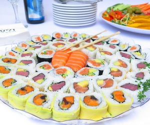 food, sushi, and sushis image