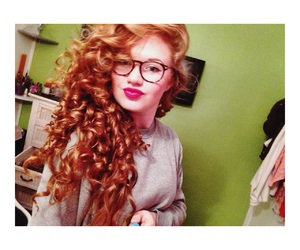 ginger, redhead, and curlyhair image