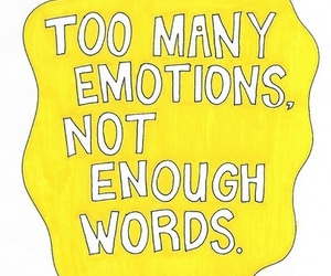 emotions, words, and text image