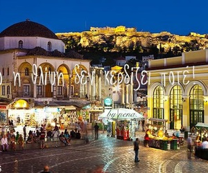 Athens, by night, and greek quotes image