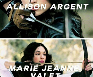 teen wolf, allison argent, and marie jeanne valet image