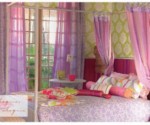 girls, pink, and room image