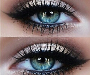 eyes, makeup, and beauty image