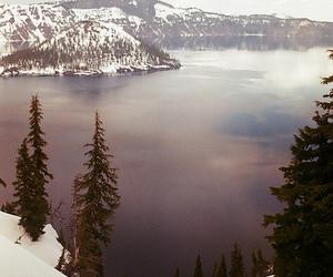 snow, lake, and mountains image