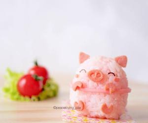 eat, pig, and pink image
