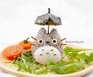 eat, totoro, and Miyazaki image