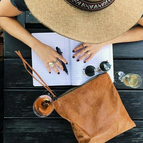 bag, plan, and girl image